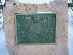 Yorkshire, OH (Darke County) - A closer look at Annie Oakley's birthplace marker on Spencer Rd.