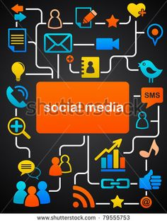 Social network background with media icons by Marish, via Shutterstock
