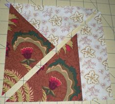 One stack of 8 triangles (spinning kitties)     One stack of 8 triangles (climbing frogs)    Remember the piece of fabric I showed last we...