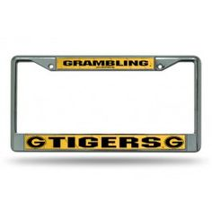 Grambling State Tigers Chrome License Plate Frames