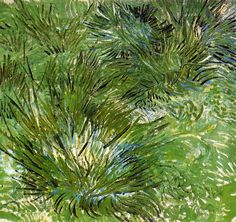 VINCENT VAN GOGH-Clump of Grass, 1889