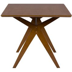 Baxton Studio Lucas Mid-Century Style Walnut Brown Dining Table ($368) ❤ liked on Polyvore featuring home, furniture, tables, dining tables, midcentury modern furniture, walnut furniture, baxton studio table, mid century modern furniture and midcentury furniture
