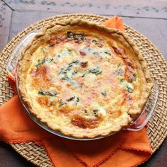Quiche with Swiss Chard, Mushrooms and Gouda