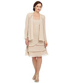 online shopping for S. Fashions Women's Plus Size Embellished Tiered Jacket Dress from top store. Fashions Women's Plus Size Embellished Tiered Jacket Dress Mob Dresses, Dresses Online, Casual Dresses, Bride Dresses, Wedding Dresses, Plus Size Cocktail Dresses, Cocktail Gowns, Chiffon Jacket, Jacket Dress