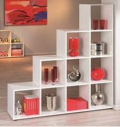 Libreria Bianca A Scala A Dieci Vani Bianco 13500210 L139H144P33CM   eBay