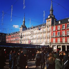 Plaza mayor de #madrid en #navidad