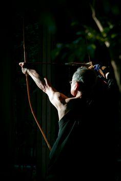"hashitaka: a master archer of ""kyudo"" at the zen temple"