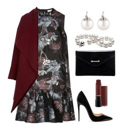 """""""Phoebe"""" by pinkpeony21 on Polyvore featuring Erdem, Harris Wharf London, Christian Louboutin, M2Malletier and Samira 13"""