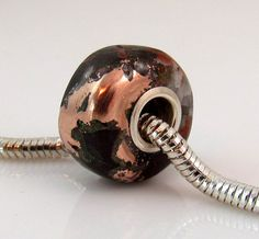 Michigan Native Copper Ore large hole bead charm by rwilberg