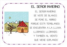 poesias infantiles el invierno - Buscar con Google Spanish Help, Spanish Songs, Spanish Lessons, Bilingual Classroom, Spanish Classroom, Toddler Learning, Teaching Kids, Video Ed, Rhyming Poems