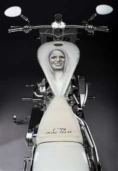 The Caroline Wozniacki custombike handbuild by Lauge Jensen Motorcycles