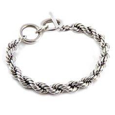 Small Sterling Silver Rope Bracelet from HandPicked