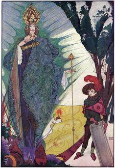Illustration from Hans Christian Andersen's De Luxe Fairy Tales Edition - by Irish Art Nouveau artist Harry Clarke