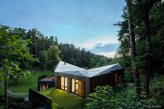 Modern Wooden House In Lithuanian Valley