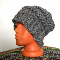 COUNTRY CAP  Chunky Gray Cap soft yarn от YarnAndBeadsDesign