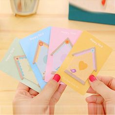 Cute 20 Sets/Lot Self-Adhesive Memo Pad Sticky Notes Post It Bookmark School Student Gifts Office Home Supply Message Posted #Affiliate