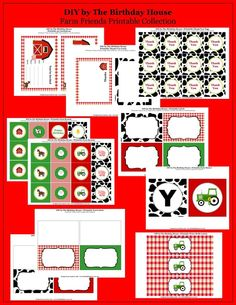 Farm Birthday Party - Farm Friends Printable Party Collection by The Birthday House