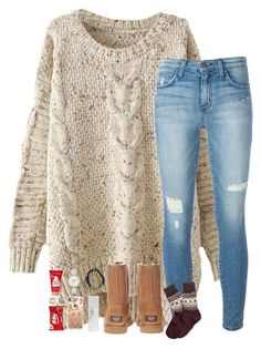 """""""2 more days till break"""" by hailstails ❤ liked on Polyvore featuring Current/Elliott, UGG Australia, Brooks Brothers, NARS Cosmetics, Skagen, Casetify and Kate Spade"""