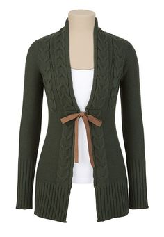 Maurices Cable Knit Cardiwrap - just got this and it's so warm and comfy!  Great with dress pants for work OR jeans and boots!
