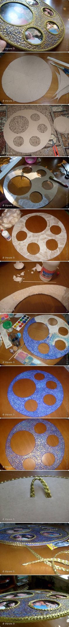 DIY Eggshell Panorama Frame...Eggshell Mosaic Craft Tutorials to Try With Your Kids Today