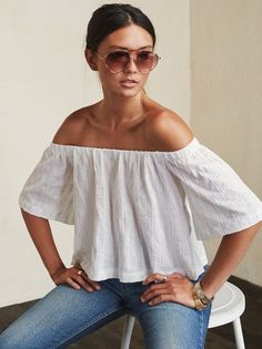 Give your collarbones some time to shine. The Truxton Top highlights them nicely and also makes pretty much any bottoms you wear that much better. https://www.thereformation.com/products/truxton-top-fresh?utm_source=pinterest&utm_medium=organic&utm_campaign=PinterestOwnedPins