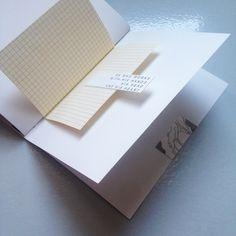 Handmade binding for a creative notebook.