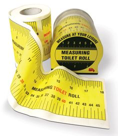 Measuring Tape Toilet Roll, could use for table runner
