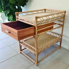 Giving your nursery a funky and unique vibe, this changing table can be matched with any decor for an eclectic feel. Foam Mattress, Rattan, Cosy, Cribs, Nursery, Table, Decor, Wicker, Cots