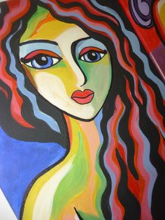 Eleni S: Acrylic painting on canvas.     [inspired by artist Martina Shapiro]
