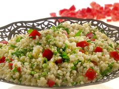 Melissa's Israeli Couscous Tabouli Melissa makes this salad the traditional Mediterranean way with fresh parsley, cilantro and mint, but she uses Israeli couscous in place of bulghur. Get the Recipe: Israeli Couscous Tabouli Healthy Sides, Healthy Side Dishes, Side Dish Recipes, New Recipes, Cooking Recipes, Healthy Recipes, Healthy Meals, Recipies, Simple Recipes
