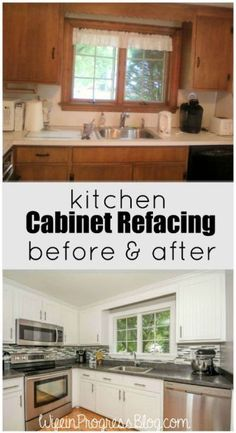 DIY Inexpensive Cabinet Updates- Add Trim, Paint cabinets and ...