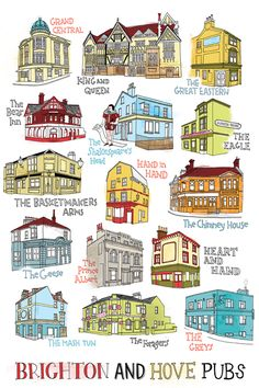 Brighton Pubs by Tilly aka Running For Crayons