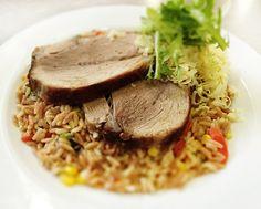 Denné menu Vranov | Bravčové stehno na rizote zo slovenskej ryže, syrová posýpka - reštaurácia Hotel Patriot*** #hotel #restaurant