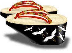Pokkuri Wooden Clogs, Wooden Sandals, Kimono Japan, Japanese Costume, Korean Hanbok, Japanese Prints, Japanese Beauty, Japan Fashion, Kimono Fashion