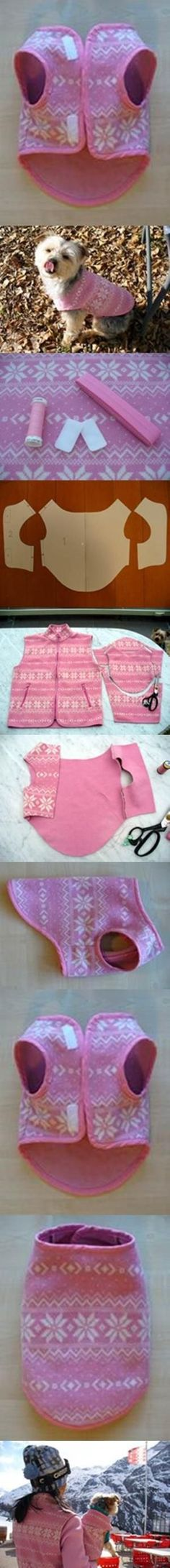 DIY Easy Dog Fleece Jacket 2 by erika