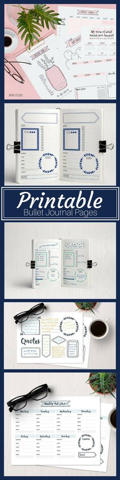 printable pages for bullet journal planners #printable #bulletjournaling #bujo #ad #bulletjournaljunkies