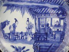 Beautiful Deep Chinese Porcelain B/W Kangxi Dish-Figures-18th C.#3   eBay