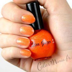 Vernis à Ongles Orange Glitter Pulp - Stargazer   Color-Mania (http://www.color-mania.fr/boutique/vernis-a-ongles-orange-glitter-pulp-stargazer/)