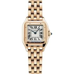 Cartier Panthere de Cartier Small wgpn0006 Watch ($16,830) ❤ liked on Polyvore featuring jewelry, watches, cartier watches, imitation watches, fake watches, imitation jewellery and crown jewelry