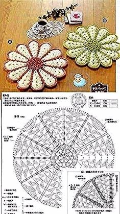 New Crochet Patrones Ganchillo Cuadrados 70 Ideas - Diy Crafts Mandala Au Crochet, Crochet Motifs, Crochet Flower Patterns, Doily Patterns, Crochet Chart, Crochet Squares, Thread Crochet, Crochet Designs, Crochet Doilies