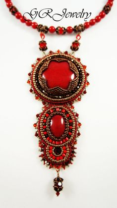 Red Jade Necklace by Guzialla Reed
