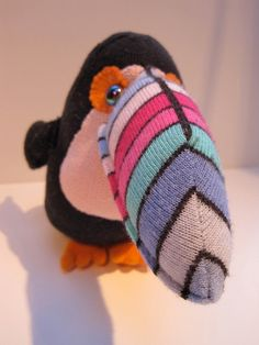 STEINWAY colorful toucan, handmade upcycled sock toy on Etsy, $27.38 AUD