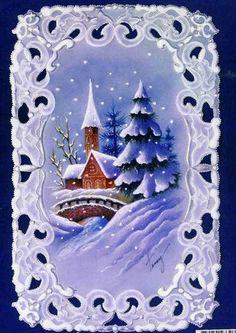 Village de Noël en dentelle de papier et couleurs http://www.avecpassion.fr/29-pergamano-parchment-craft-dentelle-papier-parchemin