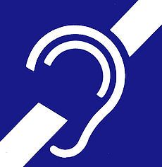 This is an international symbol for deafness or hard of hearing.#Deaf & Hard of Hearing