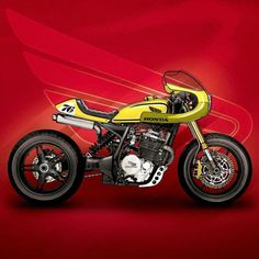 Sketch Honda Cafe Racer