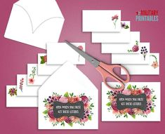 Open When Envelopes Open When Letters by MilitaryPrintables