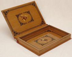Caixa livro florão 3 - artesanum com