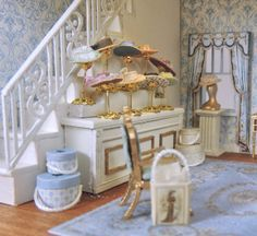New Scale Ladies Shop [OC-LS] : Miniature Dollhouse Kits & Accessories Fairy Houses, Doll Houses, Dollhouse Ideas, Dollhouse Miniatures, Old World Market, Vitrine Miniature, Mini Doll House, Market Stalls, Miniature Crafts