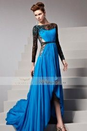 2015 New Arrival Peacock Tail Long Sleeves Prom 81532