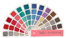 Light Summer Color Swatch Book by Indigo Tones, true to Sci\ART standards.